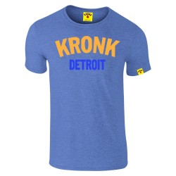 Kronk Two Colour Detroit Slim Fit T-Shirt Heather Royal Blue