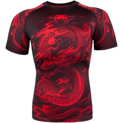Venum Dragon's Flight Rashguard SS Black Red