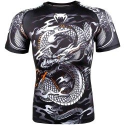 Venum Dragon's Flight Rashguard SS Black White