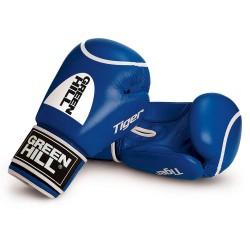Green Hill Tiger Boxhandschuhe Blau Mit Trefferkreis