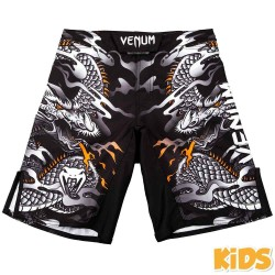 Venum Dragon's Flight Kids Fightshorts Black White