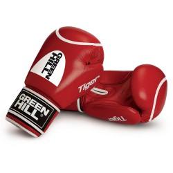 Green Hill Tiger Boxhandschuhe Rot Mit Trefferkreis