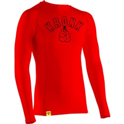 Kronk Performance Baselayer Gloves LS T-Shirt Red