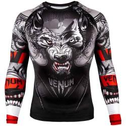 Venum Werewolf Rashguard LS Black Grey