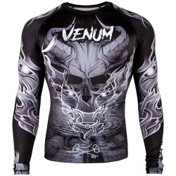 Abverkauf Venum Minotaurus Rashguard LS Black White S