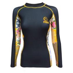 Fuji Sports Kimono Rashguard Women Black Gold