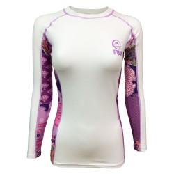 Fuji Sports Kimono Rashguard Women White Pink