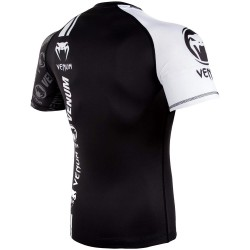 Venum Logos Rashguard SS Black White