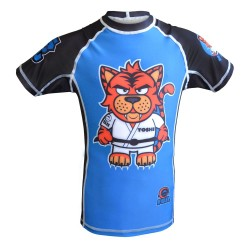 Fuji Sports Toshi SS Rashguard Kids Blue Black