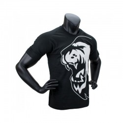 Super Pro Lion Logo T-Shirt Schwarz Weiss