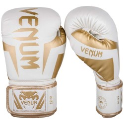 Venum Elite Boxing Gloves White Gold