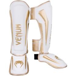 Venum Elite Standup Shinguards White Gold