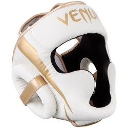 Venum Elite Headgear White Gold