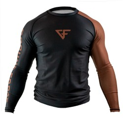 Ground Force Rank Rashguard LS Brown