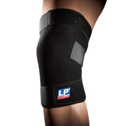 LP-Support 756 Basic Geschlossene Wickel Kniebandage Schwarz