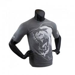 Super Pro Lion Logo T-Shirt Grau Weiss