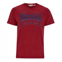 Lonsdale Martock Herren T-Shirt Dark Red