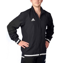 Adidas T19 WOV Jacket Black White DW6876