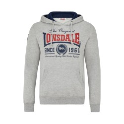 Lonsdale Wells Herren Sweatshirt Marl Grey