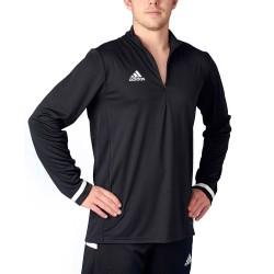 Adidas T19 Zipper Shirt LS Black White DW6852