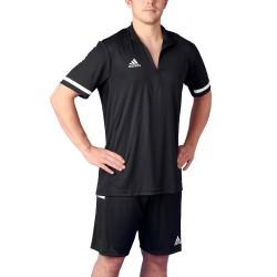 Adidas T19 Zipper Shirt SS Black White DW6850