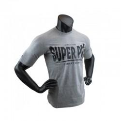 Super Pro S.P. Logo T-Shirt Grau Schwarz Kids