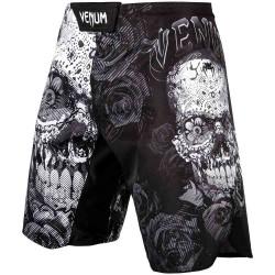 Venum Santa Muerte 3.0 Fightshorts Black White