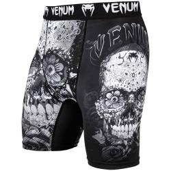 Venum Santa Muerte 3.0 Compression Shorts Black White