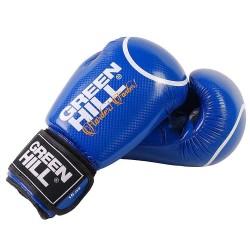 Green Hill Panther Boxhandschuhe Blau Mit Trefferkreis