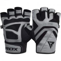 RDX Gym Handschuh Leder S12 grau