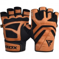 RDX Gym Handschuh Leder S12 beige