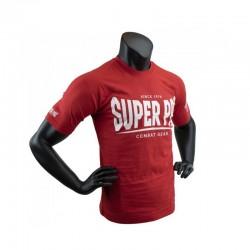 Super Pro S.P. Logo T-Shirt Rot Weiss Kids