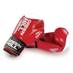 Green Hill Panther Boxhandschuhe Rot Mit Trefferfläche