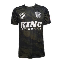 King Pro Boxing Pro Star 1 T-Shirt Camo Green