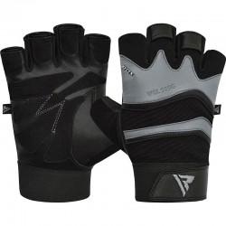 RDX Gym Handschuh Leder S15 grau