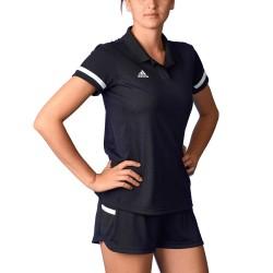 Adidas T19 Polo Shirt Women Black White DW6877
