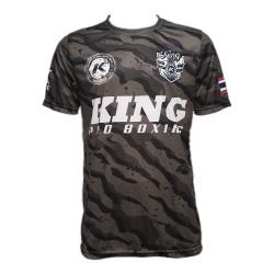 King Pro Boxing Pro Star 2 T-Shirt Camo Grey