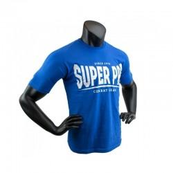 Super Pro S.P. Logo T-Shirt Blau Weiss