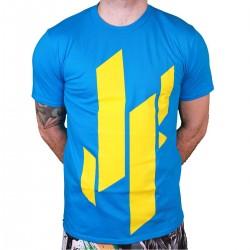Justyfight Logo T-Shirt Blau