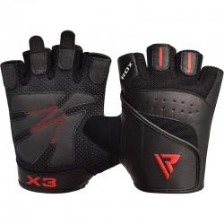 RDX Gym Handschuh Leder S2 schwarz