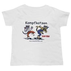 Top Ten Kampfkatzen T-Shirt für Kinder Weiss
