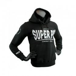 Super Pro S.P. Logo Hoody Schwarz Weiss