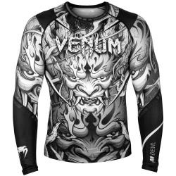 Venum Devil Rashguard LS White Black