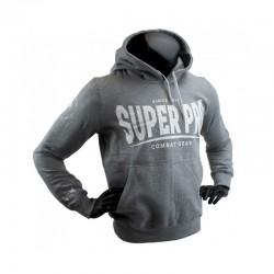 Super Pro S.P. Logo Hoody Grau Weiss