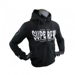 Super Pro S.P. Logo Zip Hoody Schwarz Weiss