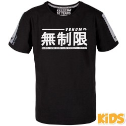 Venum Limitless T-Shirt Kids Black White