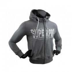 Super Pro S.P. Logo Zip Hoody Grau Weiss