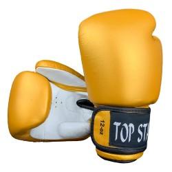 Tiger Boxhandschuhe Leder Gold Weiss
