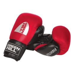 Green Hill Fighter Boxhandschuhe Schwarz Rot