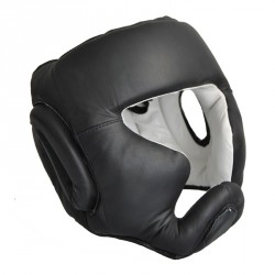 Abverkauf Phoenix Kopfschutz Echtleder Schwarz